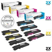 LD © 8pk Comp Toner for Dell C3760 C3765 331-8429 331-8432 331-8431 331-8430
