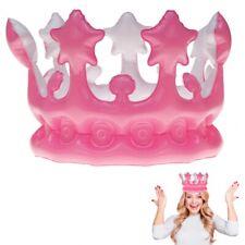 Aufblasbare Krone Pink Karneval Fasching Prinzessin Königin Verkleidung pink