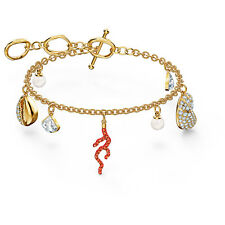 Swarovski 5520673 Shell Coral Bracelet, Red, Gold-tone plated RRP $199