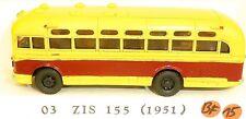 03 ZISS 155 Résine Bus rouge crème V&V H0 1:87 BF15 å