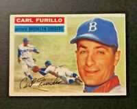 1956 topps baseball card #190 Carl Anthony Furillo Brooklyn Dodgers