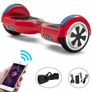 """Hoverboard 6.5"""" Red Electric Scooters Balance Board LED Two Wheels E-scooter+Bag"""