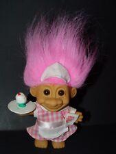 "Troll Doll 4 1/2"" Russ Ice Cream Girl Waitress Pink Hair"