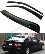 FOR 1996-00 HONDA CIVIC 2DR COUPE SMOKE REAR ROOF WINDOW + SIDE DOOR VISOR COMBO