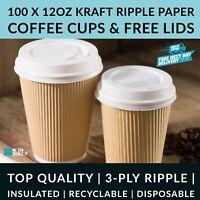 4//8//32ml Papier Café Tasses Noir Jetable