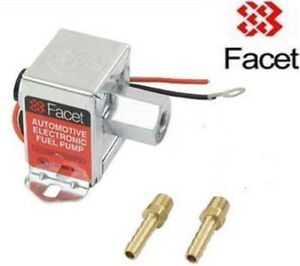 FACET 3.0-4.5psi Fuel Pump with 8mm unions 40105 solid state electric pump
