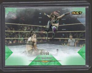 (LOW SN /50) IO SHIRAI 2020 TOPPS WWE UNDISPUTED GREEN PARALLEL