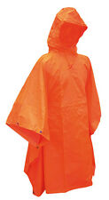 NEW Rain Poncho Orange Cape Reflector Emergency Tent Signal Shawl