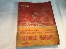 1972 Chevrolet Original Service Manual ST 329-72 Chevelle Camaro Corvette Nova