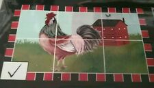 """Kitchen Wall Foil Backsplash Decal 30"""" x 18"""" Rooster Red Barn Home Decor New"""