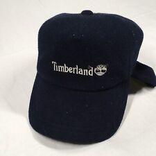 CHILDS TIMBERLAND BASEBALL CAP, USED, DARK BLUE, WHITE STITCHING.