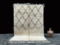 Handmade moroccan rug - 5x7 ft - wool rug - beniouarain rug - tapis marocain