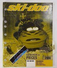 Ski-Doo 2000 Skandic Wide Track Super Factory Parts Catalog Manual 484 400 083
