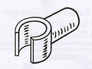 Pole c clip ¾ (19mm) Pack of 2 caravan / motorhome