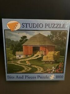 """BITS & PIECES 1000 PIECE PUZZLE DOG DAYS 20"""" x 27"""" New Sealed"""