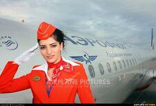 AEROFLOT - Russian Airlines Flight Attendant Stewardess Red Summer Uniform