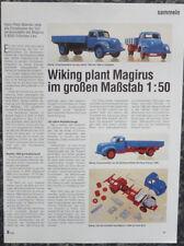 WIKING MAGIRUS S 6500 Pritschen-Lkw in 1-50....ein Modellbericht