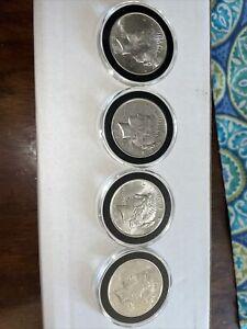 (4) Peace Dollars Silver Coins In Airtight Case