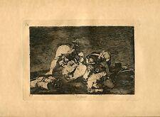 GOYA «Tampoco» Grabado (engraving) original nº10 Desastres de Guerra (Disasters)