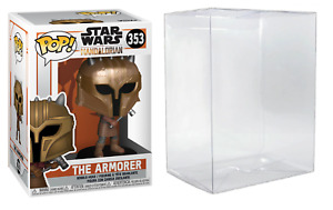 Funko Pop! Star Wars Mandalorian The Armorer # 353 & Clear Protector Case NEW