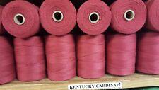 Rug Warp - Lot of 10 spools - 8/4 (100%) Cotton - Color Kentucky Cardinal