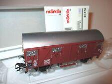 SAAR 24 066 ged Güterwagen freight car, Märklin Marklin #46274 1:87 H0 boxed