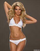 Neckholder Bikini-Set Push up Bademode Damen Größe 34/36 Cup B Weiß