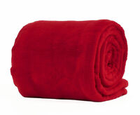 Rot Doppel Deluxe Plüsch Fleece Decke Luxus Weich Warm Zuhause Sofa Bett