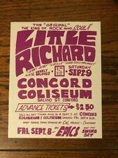 LITTLE RICHARD 1967 BILL QUARRY FILLMORE ERA POSTER HANDBILL CONCORD NEAR MINT
