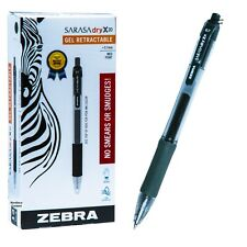 Zebra Sarasa Dry X20 0.7mm Forest Green Gel Ink Rollerball Pen 46940, Box of 12
