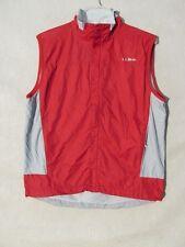 S5016 L. L. BEAN Hombre Pequeña Roja/Gris Nailon Cremallera Completa Camiseta