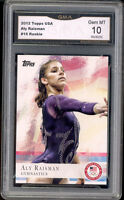 2012 Aly Raisman Topps Usa Olympics Gymnist Rookie Gem Mint 10 #15