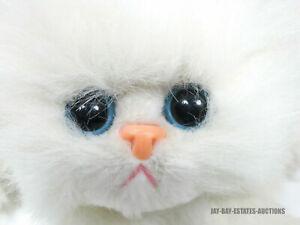 RARE VINTAGE KITTY KITTY FANCY KITTEN SNOWBALL WHITE PERSIAN CAT PLUSH TYCO 1995