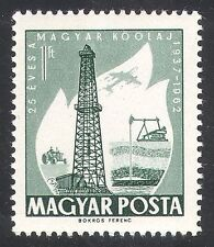 Hungary 1962 Oil/Energy/Industry/Drilling/Well/Tractor/Plane/Transport 1v n39952