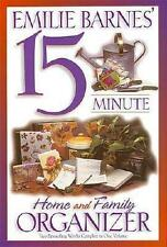 EMILIE BARNES' 15 MINUTE HOME AND FAMILY ORGANIZER - BOOK DAILY PLAN TIPS GOALS