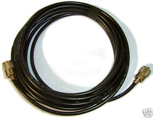 rg8x coax patch lead Mini8 5M Meter Low Loss 50 Ohm Fitted PL259
