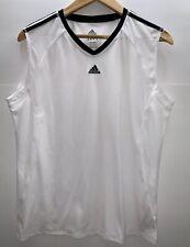 Adidas Active 360 Mens White Sleeveles Shirt