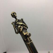 Handmade Brass Ballpoint Pen EDC Skull Creative Retro Bolt Type Tactical Pen # H