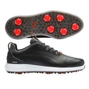 Puma Ignite Pwradapt Leather 2.0 Golf Shoes - Puma Black - Size 8