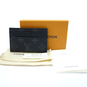 Auth LOUIS VUITTON Double Card Holder Card Case Monogram Ecripse M62170 #K502153