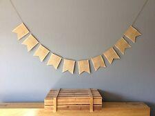 ❤️Plain Hessian Bunting Banner, wedding, Birthday Party. Vintage Hessian Rustic❤