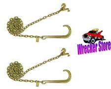 *Classic Style* 6' G70 J HOOK T HOOK COMBO WRECKER TOW TRUCK CHAIN - 1 Pair