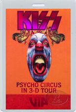 KISS 1998 PSYCHO CIRCUS TOUR LAMINATED BACKSTAGE PASS Numbered VIP