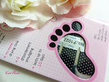 Nail Art Self Adhesive Full Toe Nail Polish Wrap Sticker Black Polka Spots 1022T