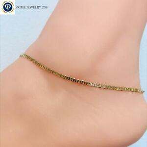 """18k Real Gold Filled Anklet Bracelet for Women 10"""",Gold Filled Anklet,Gucci Link"""