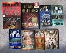 Lot Of 8 James Rollins Books - 2 Hardcover, 6 Paperback