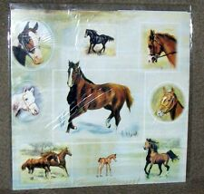 VARIETY OF HORSES Gift Wrapping Paper w/matching Gift Cards by Maystead