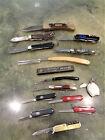 Vintage x14 Pocket Knife Lot Henckels Ka Bar Shrade Camillus Swiss Army Imperial
