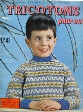 Revue de mode Catalogue de tricot - Tricotons pour eux n°41 - Année 61 -