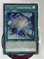 Yugioh! S-Force Bridgehead BLVO-EN057 Secret Rare 1st Edition Near Mint